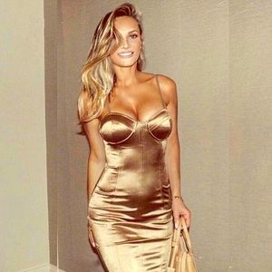 Gold Goddess Bodycon Dress